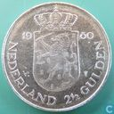 Niederlande 2½ Gulden 1980 (Double head - double strike front neck)