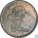 USA 1 / 2 cent 1805 5 small branches without