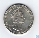 "Turks et Caicos 5 crowns 1994 ""50th anniversary Normandy Landing"""