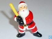 Santa Claus with baseball bat