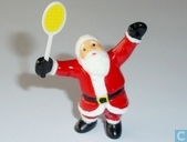 Santa with tennis racket