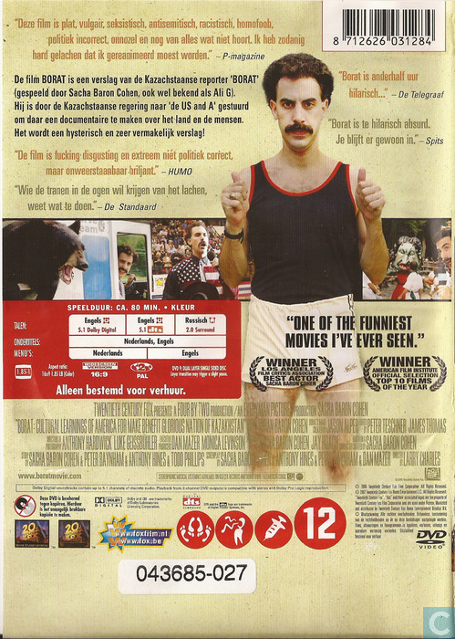 borat dvd catawiki