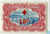 Red Cross. Surcharge in red