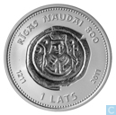 Latvia 1 lats 2011 '' 800 year coins right Riga ''