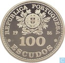 """Portugal 100 escudos 1986 """"XIII. Soccer-Worldchampionship in Mexico"""""""