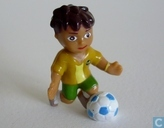 Diego with football