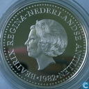 "Netherlands Antilles 50 gulden 1982 (PROOF) ""200 years of diplomatic relations with the USA"""