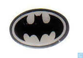 Batman bat logo pin (white)