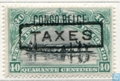 """TAXES\"" in letterpress on the issue of 1909"