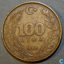 Turkey 100 lira 1988 (Aluminium-bronze)