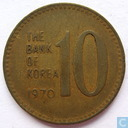 South Korea 10 won 1970 (brass)