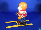 Bear on skis