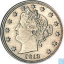 United States 5 cents 1913