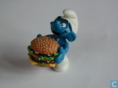 Smurf with Big Mac