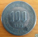 South Korea 100 won 1974