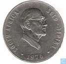 "South Africa 50 cents 1976 ""The end of the Jacobus Johannes Fouche's presidency"""