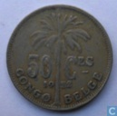 Belgian Congo 50 centimes 1922 (French)