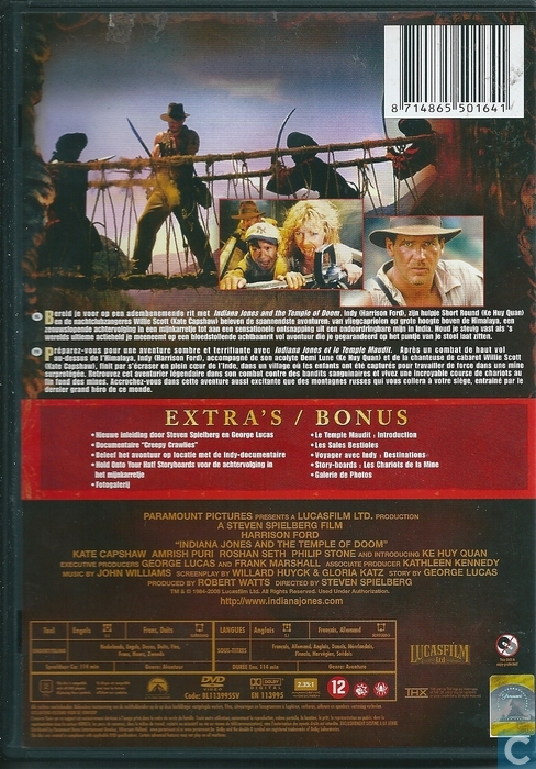 indiana jones and the temple of doom dvd catawiki