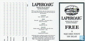 Laphroaig Single Islay malt Scotch Whisky - Free - A Square Foot Of Islay