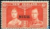 Coronation of George VI, with overprint