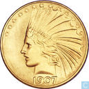 US $ 10 1907 avec points