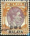 King George VI, overprint BMA Malaya