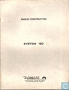 "D.Gottlieb & Co. Manuel D Instruction System ""80"""