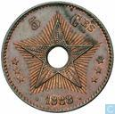 Congo Free State 5 centimes 1888