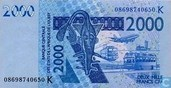 West Afr. Stat. 2000 Francs K