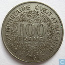 West African States 100 francs 1968