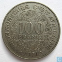 West African States 100 francs 1971