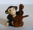 Monkey with double bass