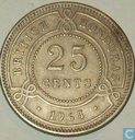British Honduras 25 cents 1965