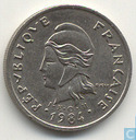 French Polynesia 10 francs 1984