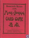 Babcock's Rules for Mah-Jongg Card Game