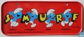 Smurf Berry Crunch Cereal Box Sign