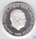 "Liechtenstein 10 franken 1988 ""50th Anniversary of Reign"""