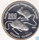 "Turkmenistan 500 manat 1996 (PROOF) ""Endangered Wildlife Series - Yalmany"""