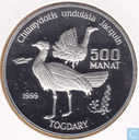 "Turkmenistan 500 manat 1999 (PROOF) ""Endangered Wildlife Series - Togdary"""