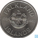 "Falkland Islands 50 pence 1983 ""150th Anniversary of British Rule"""