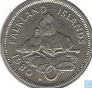Falkland Islands 10 pence 1980