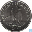 "Falkland Islands 50 pence 1987 ""World Wildlife Fund"""
