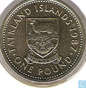 Falkland Islands 1 pound 1987