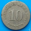 Empire allemand 10 pfennig 1874 (C)