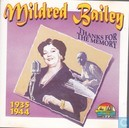 Disques vinyl et CD - Bailey, Mildred - Thanks for the memory 1935-1944