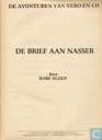Comic Books - Nibbs & Co - De brief aan Nasser