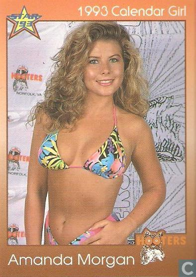Trading cards - Hooters 1993 Calendar Girls - Amanda Morgan