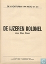 Comic Books - Nibbs & Co - De ijzeren kolonel