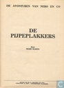 Comic Books - Nibbs & Co - De pijpeplakkers