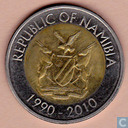 "Namibie 10 dollars 2010 ""20th Anniversary of The Bank of Namibia"""